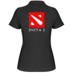 Женская футболка поло Dota 2 Big Logo