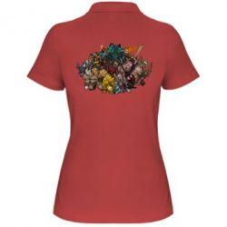 "Женская футболка поло Dota 2 ""Everybody here"" - FatLine"