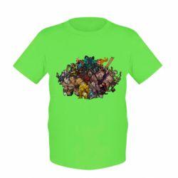 "Детская футболка Dota 2 ""Everybody here"" - FatLine"
