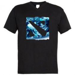 Мужская футболка  с V-образным вырезом Dota 2 Fan Atr - FatLine