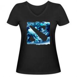 Женская футболка с V-образным вырезом Dota 2 Fan Atr - FatLine