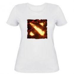 Женская футболка Dota 2 Fire Logo - FatLine