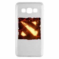 Чехол для Samsung A3 2015 Dota 2 Fire Logo
