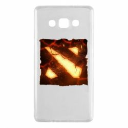 Чехол для Samsung A7 2015 Dota 2 Fire Logo
