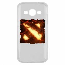 Чехол для Samsung J2 2015 Dota 2 Fire Logo