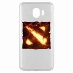 Чехол для Samsung J4 Dota 2 Fire Logo