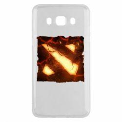 Чехол для Samsung J5 2016 Dota 2 Fire Logo