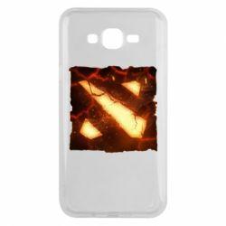 Чехол для Samsung J7 2015 Dota 2 Fire Logo