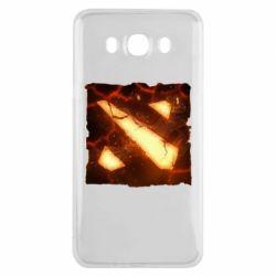 Чехол для Samsung J7 2016 Dota 2 Fire Logo