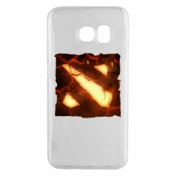 Чехол для Samsung S6 EDGE Dota 2 Fire Logo