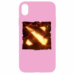 Чехол для iPhone XR Dota 2 Fire Logo