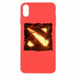 Чехол для iPhone Xs Max Dota 2 Fire Logo