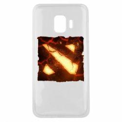 Чехол для Samsung J2 Core Dota 2 Fire Logo