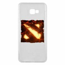 Чехол для Samsung J4 Plus 2018 Dota 2 Fire Logo