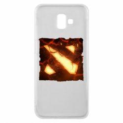 Чехол для Samsung J6 Plus 2018 Dota 2 Fire Logo