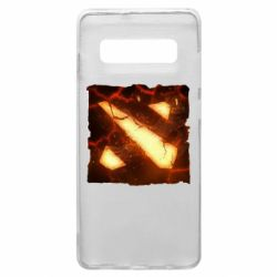 Чехол для Samsung S10+ Dota 2 Fire Logo