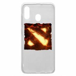 Чехол для Samsung A20 Dota 2 Fire Logo