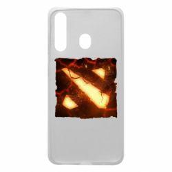 Чехол для Samsung A60 Dota 2 Fire Logo