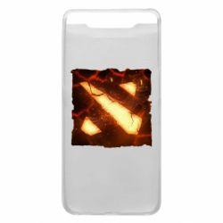 Чехол для Samsung A80 Dota 2 Fire Logo