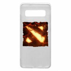 Чехол для Samsung S10 Dota 2 Fire Logo