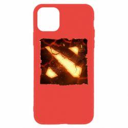 Чехол для iPhone 11 Dota 2 Fire Logo