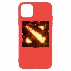 Чехол для iPhone 11 Pro Dota 2 Fire Logo