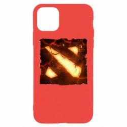 Чехол для iPhone 11 Pro Max Dota 2 Fire Logo