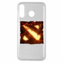 Чехол для Samsung M30 Dota 2 Fire Logo