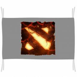 Флаг Dota 2 Fire Logo