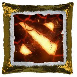 Подушка-хамелеон Dota 2 Fire Logo