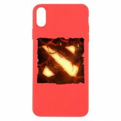 Чехол для iPhone X/Xs Dota 2 Fire Logo