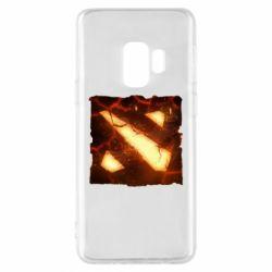 Чехол для Samsung S9 Dota 2 Fire Logo