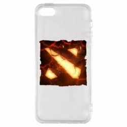 Чехол для iPhone5/5S/SE Dota 2 Fire Logo
