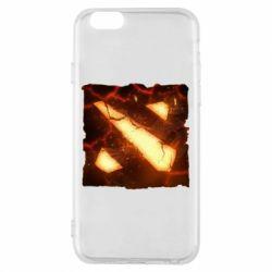 Чехол для iPhone 6/6S Dota 2 Fire Logo