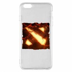 Чехол для iPhone 6 Plus/6S Plus Dota 2 Fire Logo