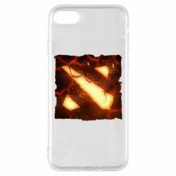 Чехол для iPhone 7 Dota 2 Fire Logo
