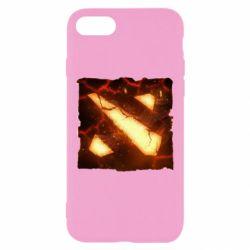 Чехол для iPhone 8 Dota 2 Fire Logo