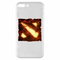 Чехол для iPhone 8 Plus Dota 2 Fire Logo