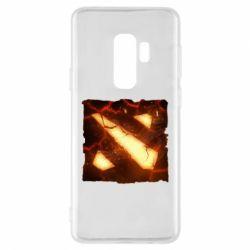 Чехол для Samsung S9+ Dota 2 Fire Logo
