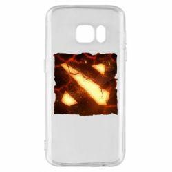 Чехол для Samsung S7 Dota 2 Fire Logo
