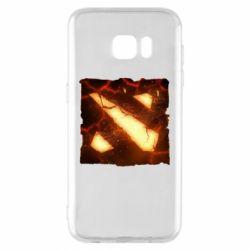 Чехол для Samsung S7 EDGE Dota 2 Fire Logo