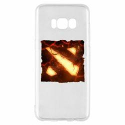 Чехол для Samsung S8 Dota 2 Fire Logo