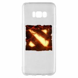 Чехол для Samsung S8+ Dota 2 Fire Logo