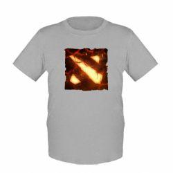 Детская футболка Dota 2 Fire Logo - FatLine