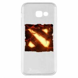 Чехол для Samsung A5 2017 Dota 2 Fire Logo