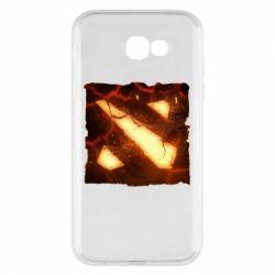 Чехол для Samsung A7 2017 Dota 2 Fire Logo