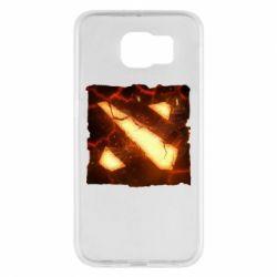 Чехол для Samsung S6 Dota 2 Fire Logo