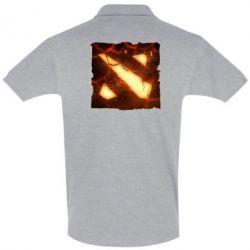Мужская футболка поло Dota 2 Fire Logo