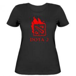 Женская футболка Dota 2 Fire - FatLine