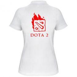 Женская футболка поло Dota 2 Fire - FatLine